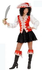 Red Regal Pirate Costume